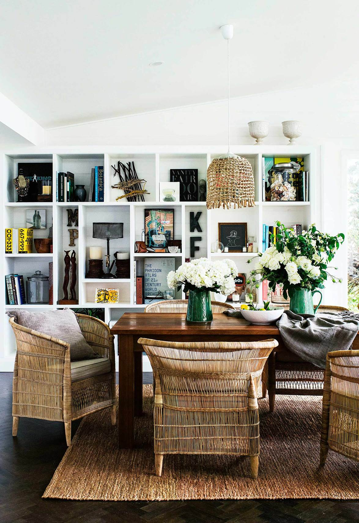 masculine Hamptons dining room