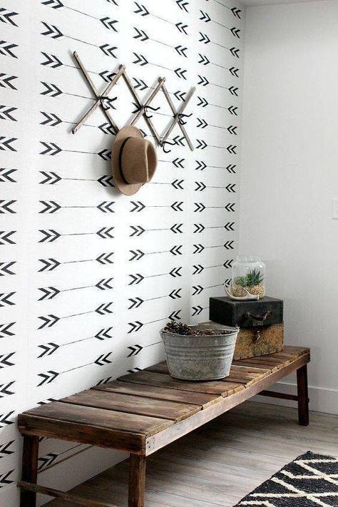 patterned hallway wallpaper