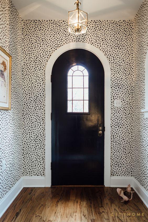 speckled hallway wallpaper