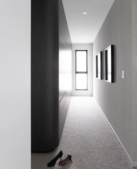 subtle grey hallway wallpaper