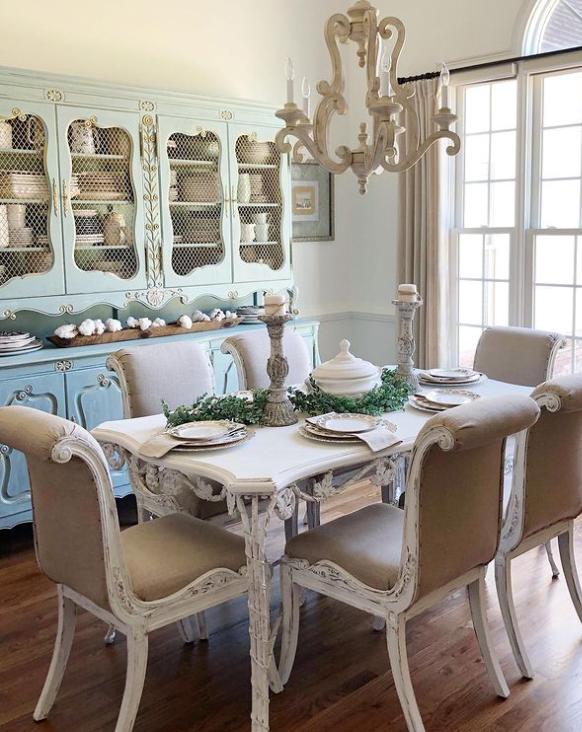 vintage farmhouse dining room ideas
