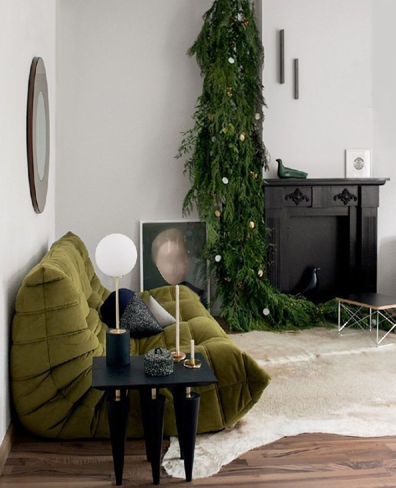 Matte black empty fireplace