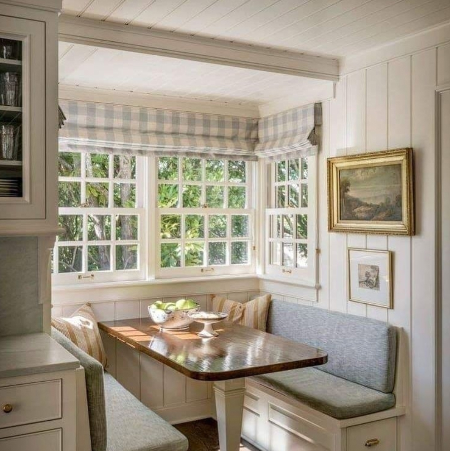 Farmhouse bench dining table