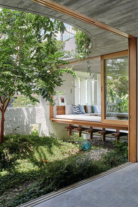 concrete and timber avantgarde conservatory