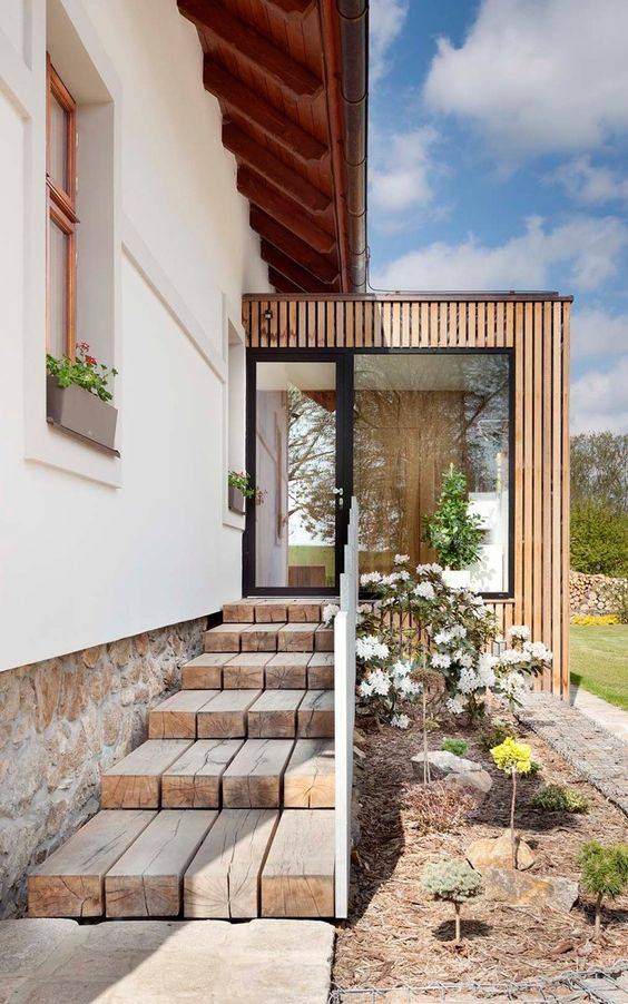 contemporary and linear conservatory