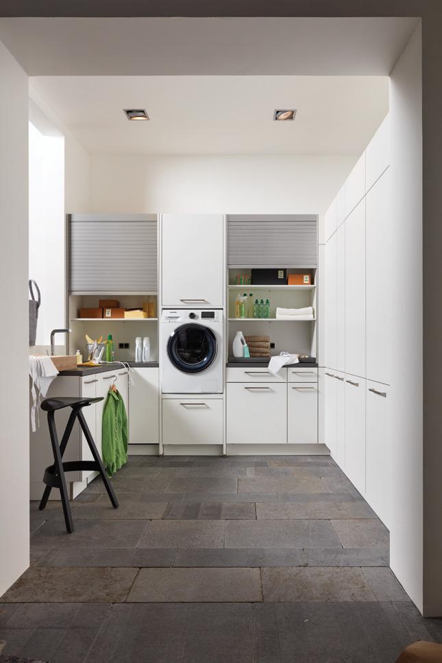 ergonomically designed utility room