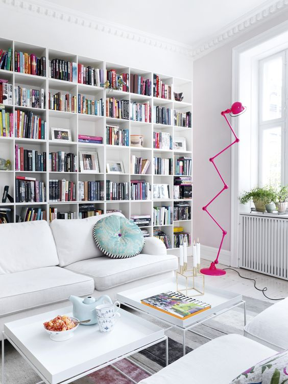 living room wall home library