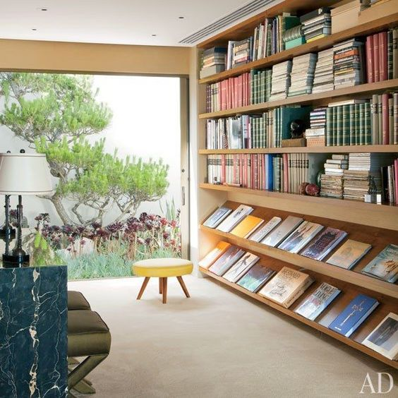 midcentury home library
