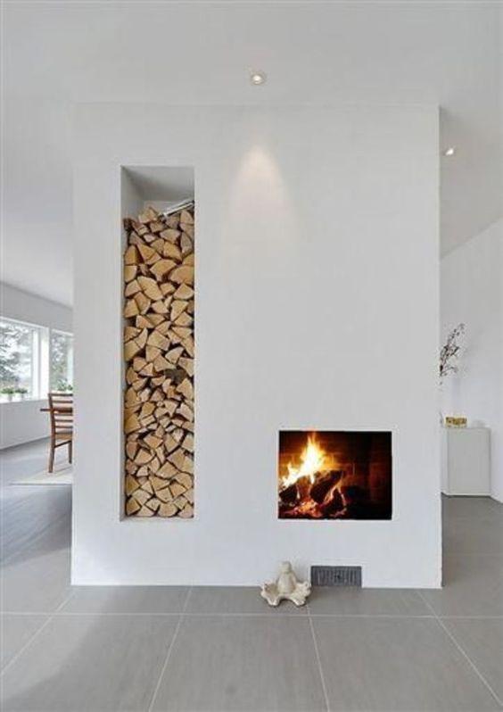 minimalist modern fireplace