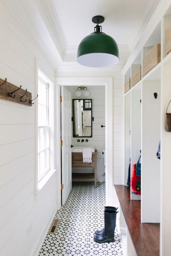 narrow utility room