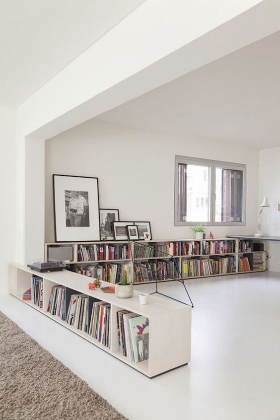 room perimeter home library