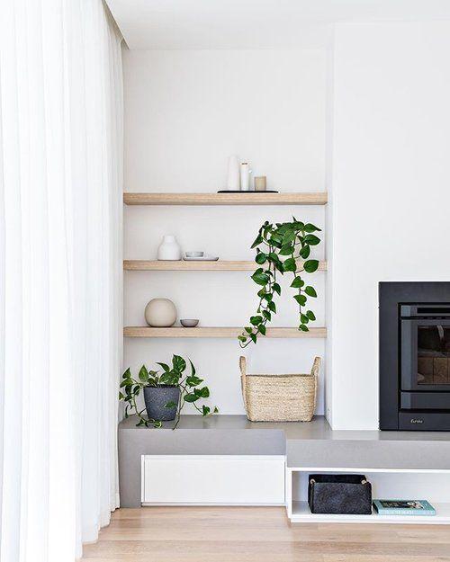 simple scandi style fireplace