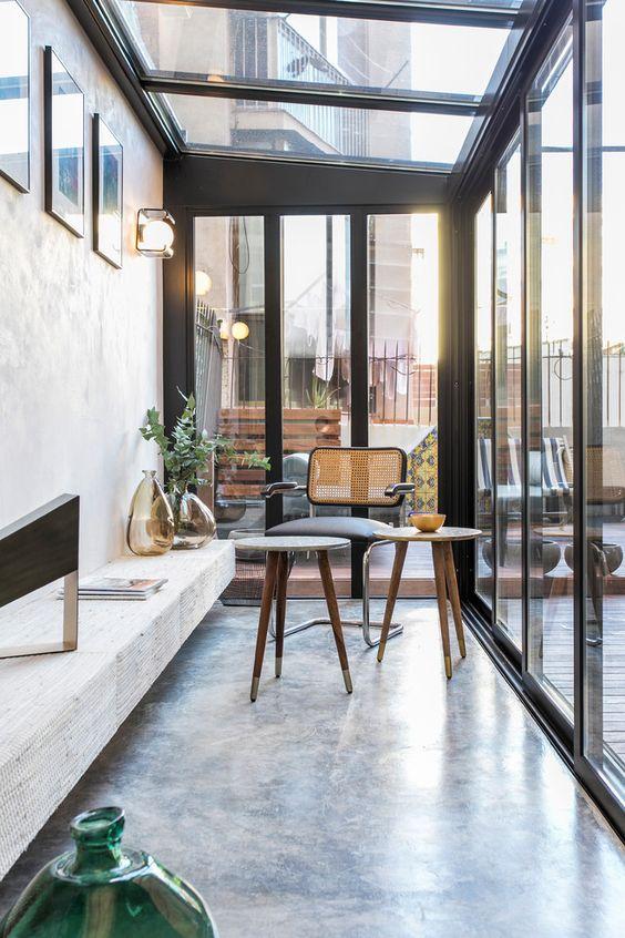 sunny modern conservatory