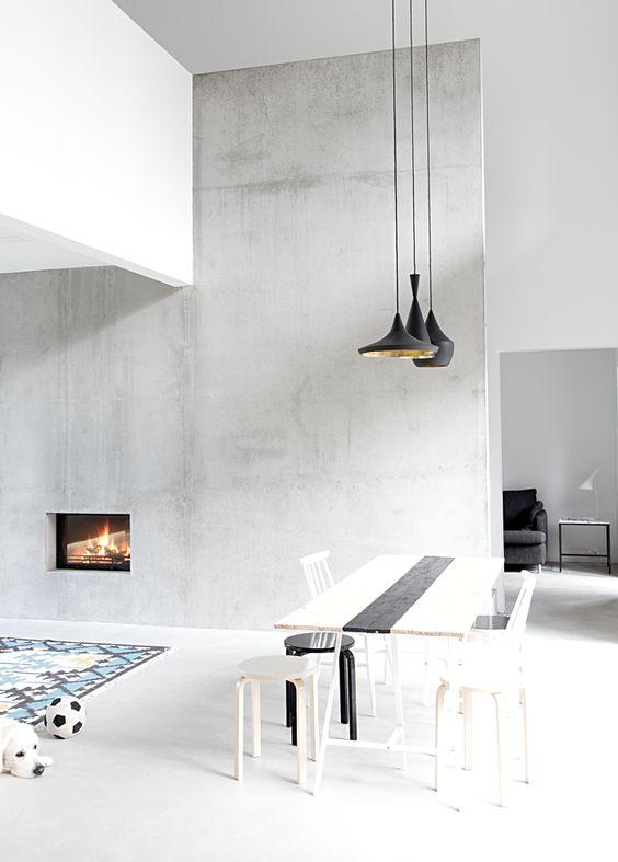 ultra minimal fireplace