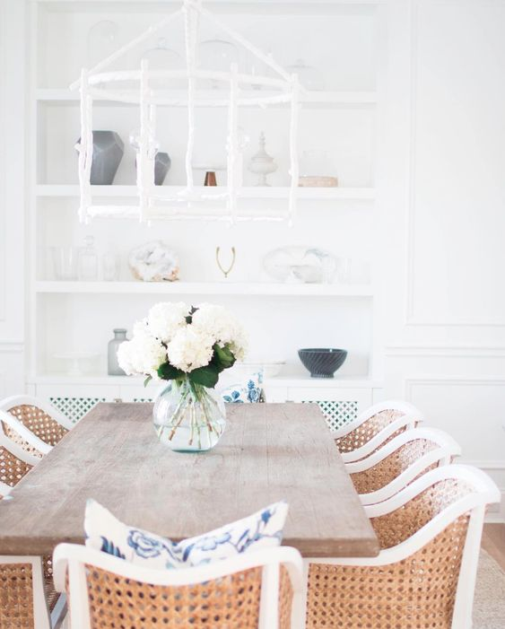 white and rattan