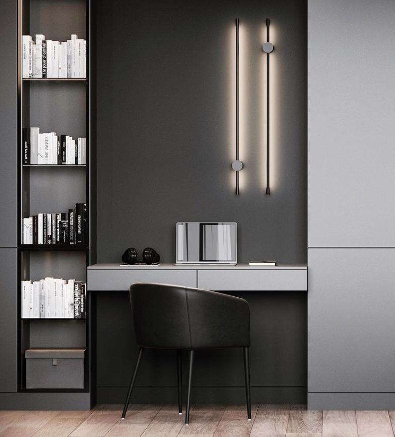 Black modern home office ideas