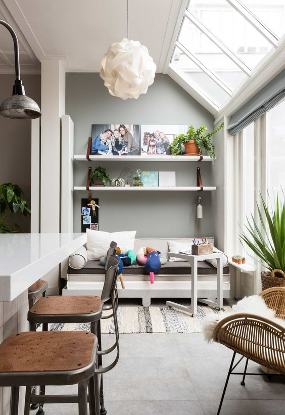 airy and bright conservatory