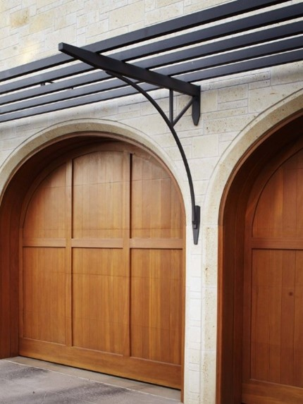 arched timber garage