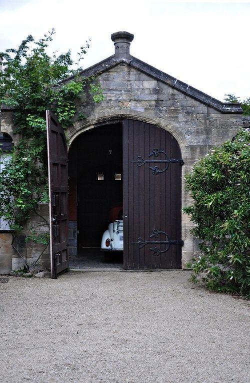 arched vintage garage