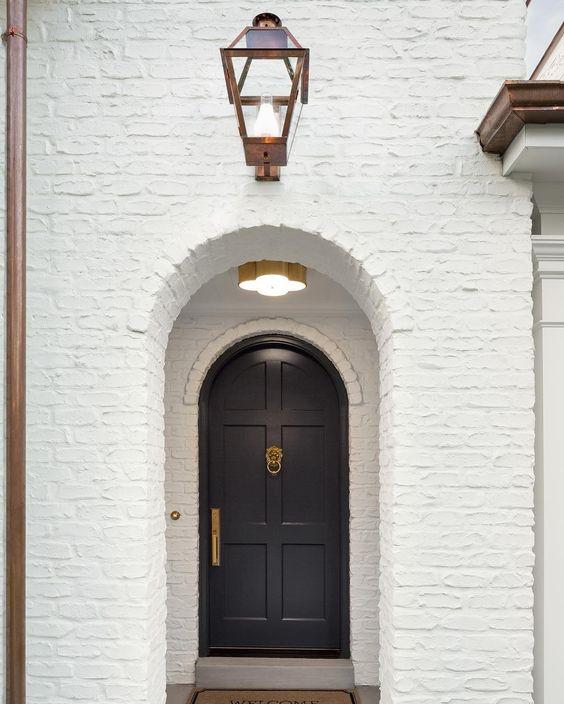 arched front door