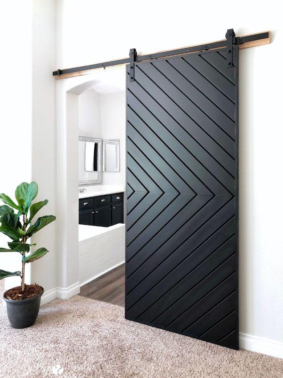 barn door with pattern