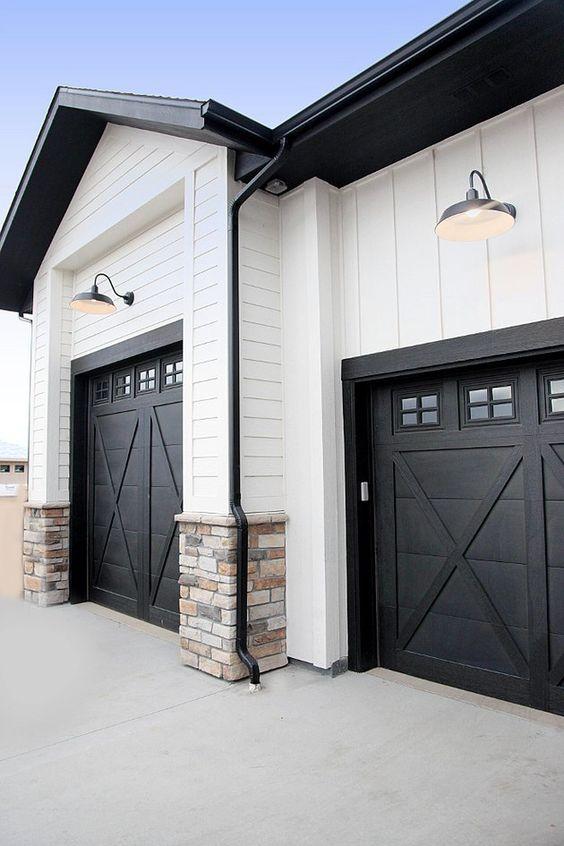 black barn doors