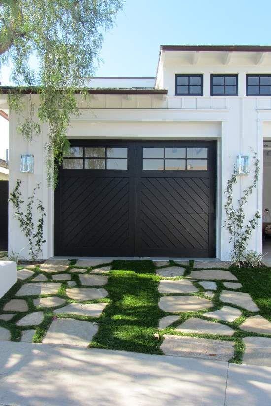 black craftsman door