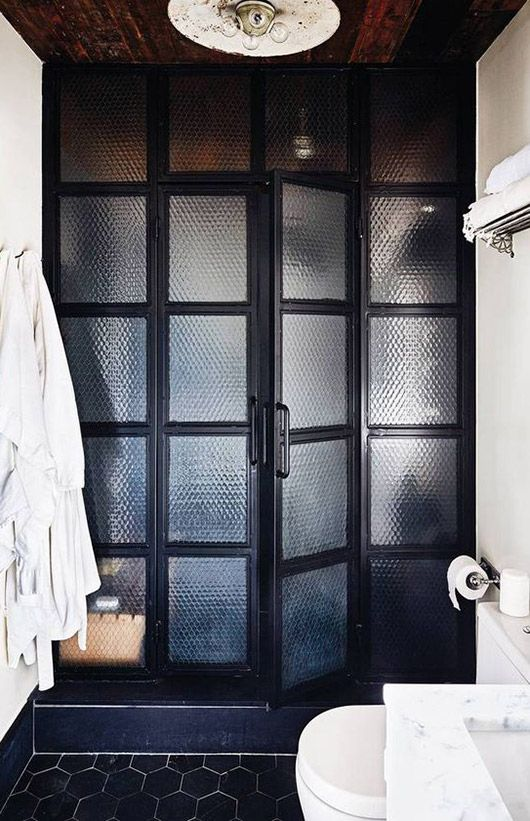 black frosted doors