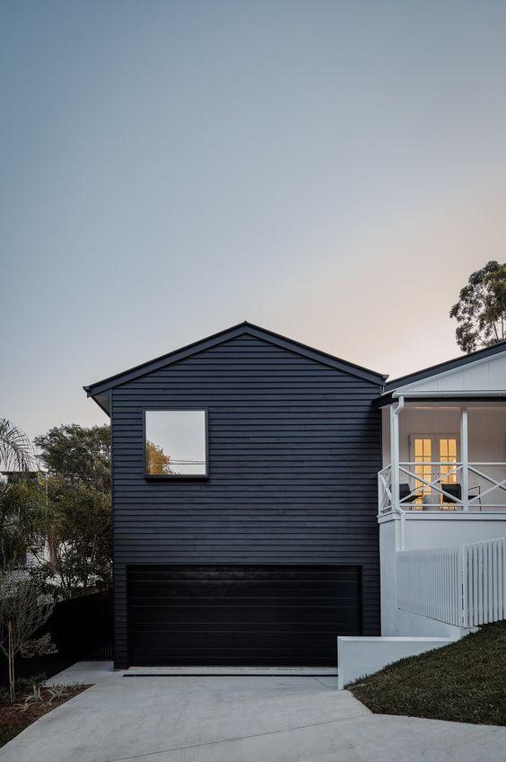 black modern garage door ideas