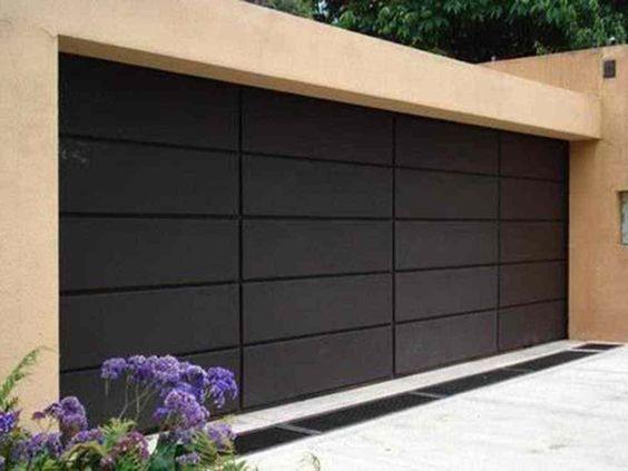 black roller garage door ideas