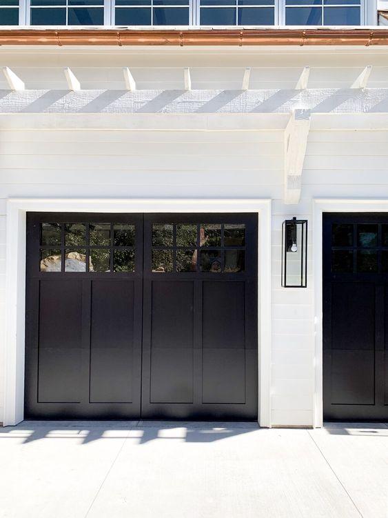 panelled garage door ideas