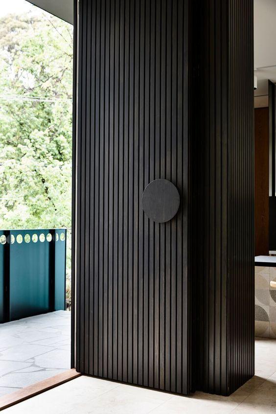 black wooden front door ideas