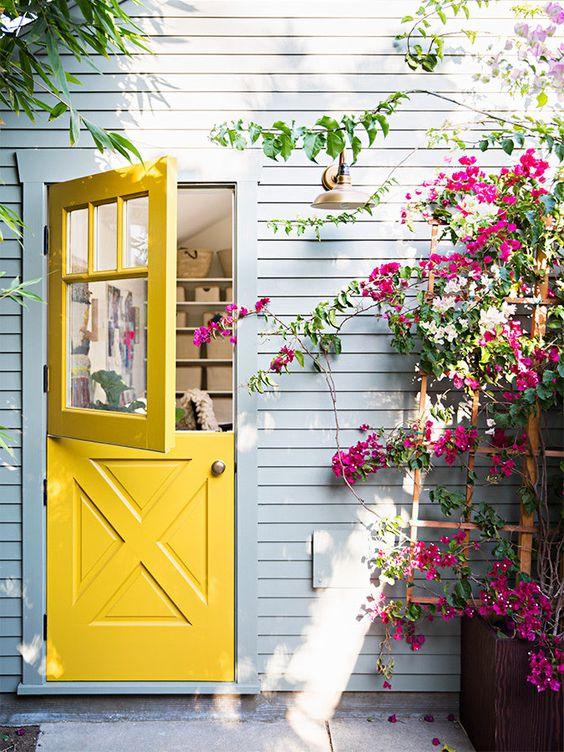 cottage charm with Dutch door