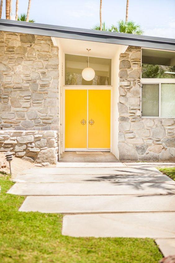 double yellow doors