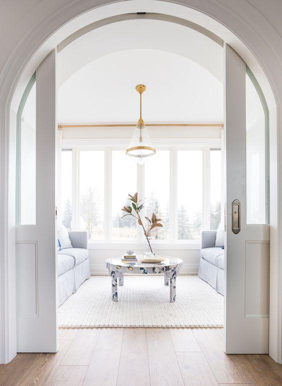 internal arched sliding doors