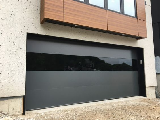 matte black with glass panel