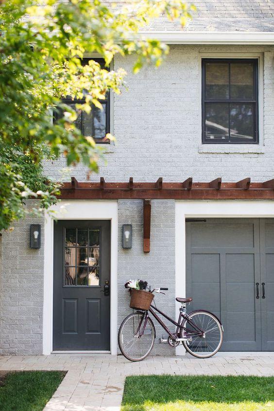 mid grey garage doors