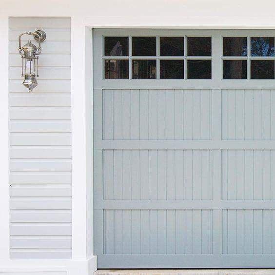 pale grey garage door