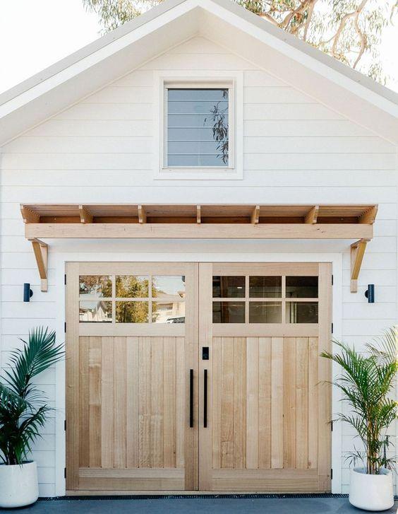 pale wood garage doors