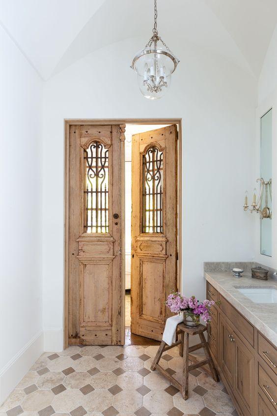 reclaimed timber door