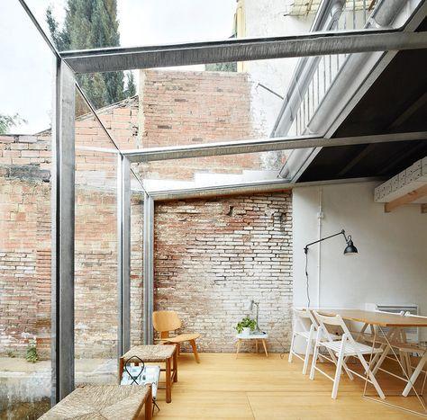 rustic brick conservatory