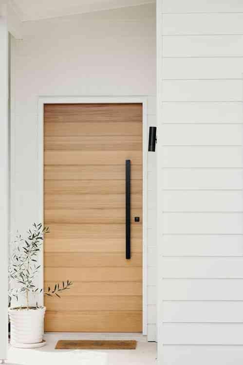 simple minimal front door