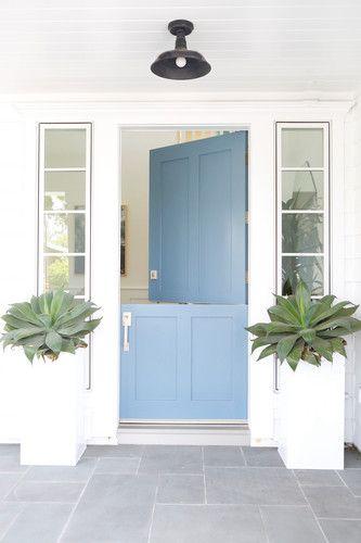 sky blue dutch door