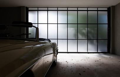 smoked glass garage