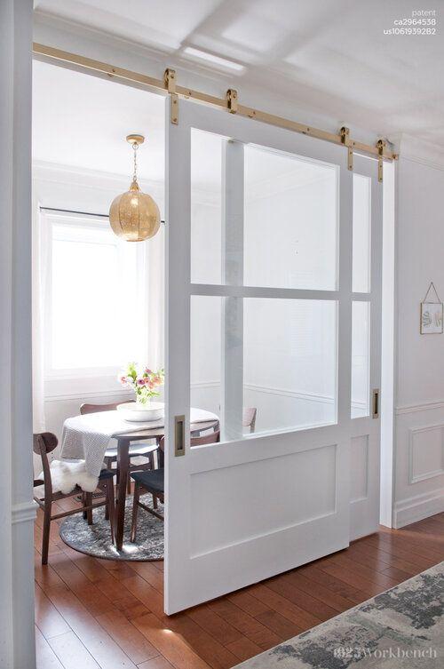 white barn doors