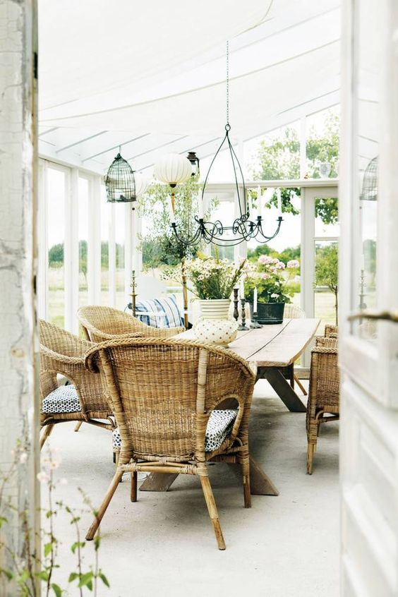 whites and naturals in conservatory