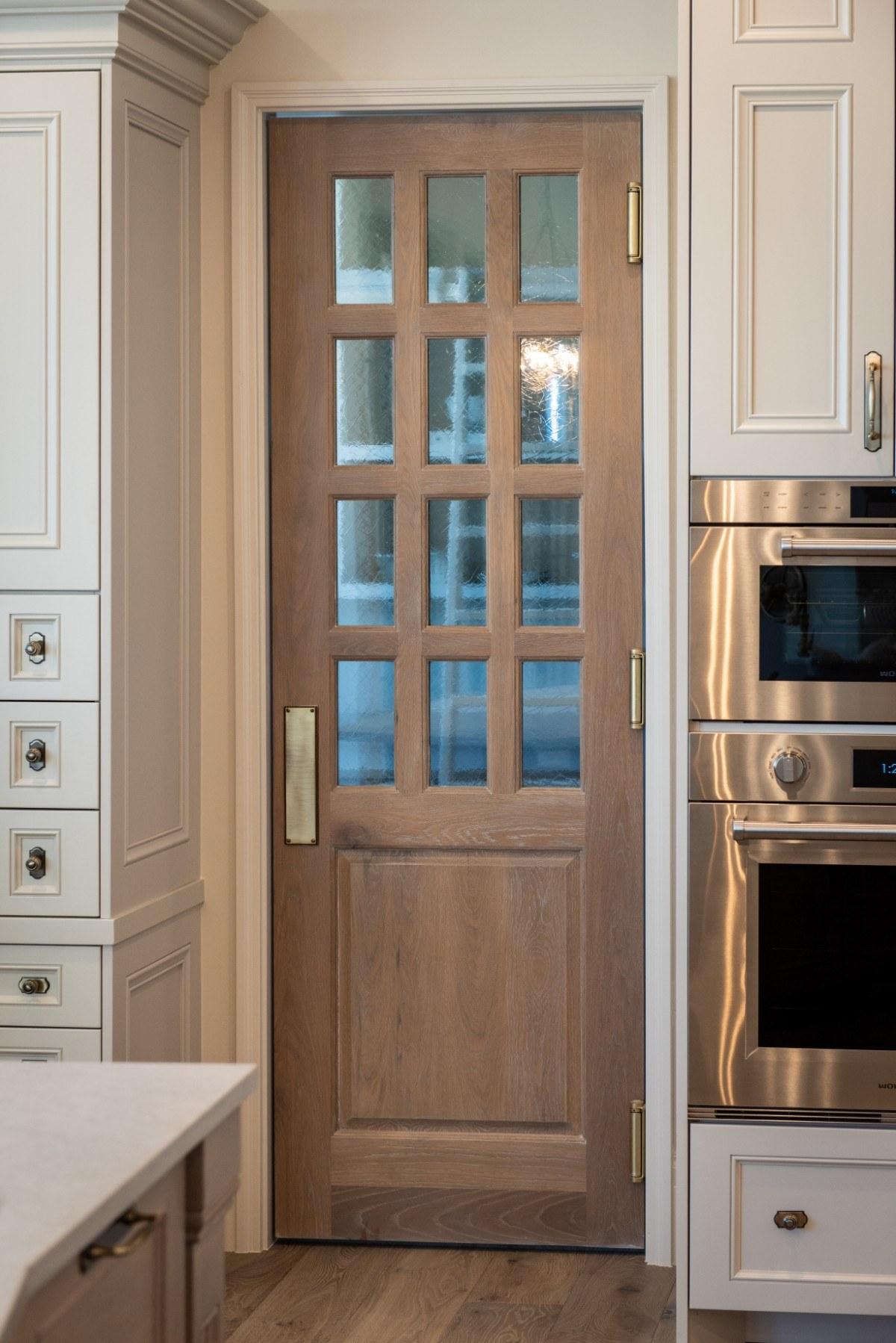 modern timber pantry door