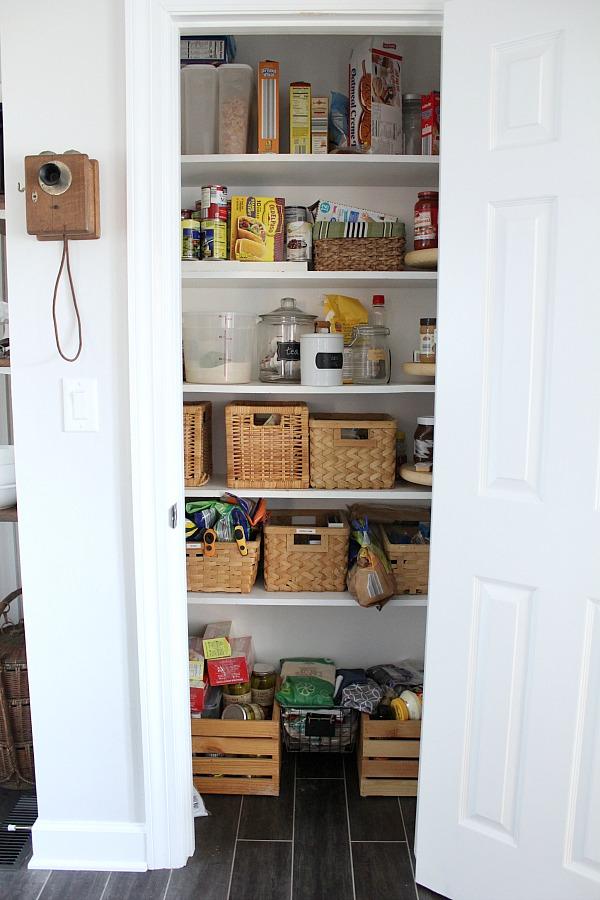 White pantry door