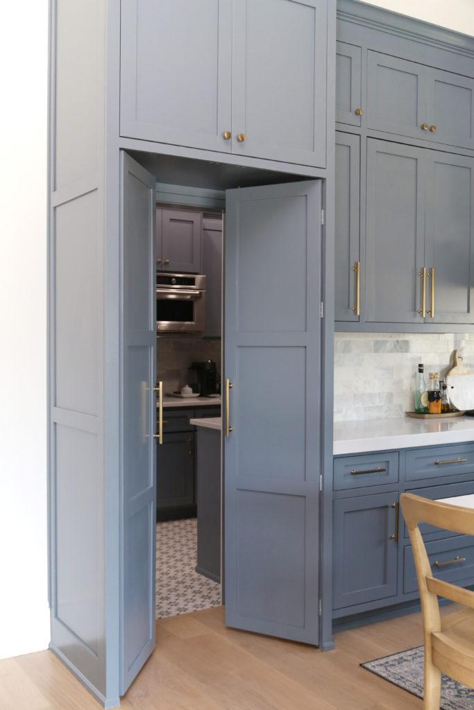 Hidden walk in pantry door