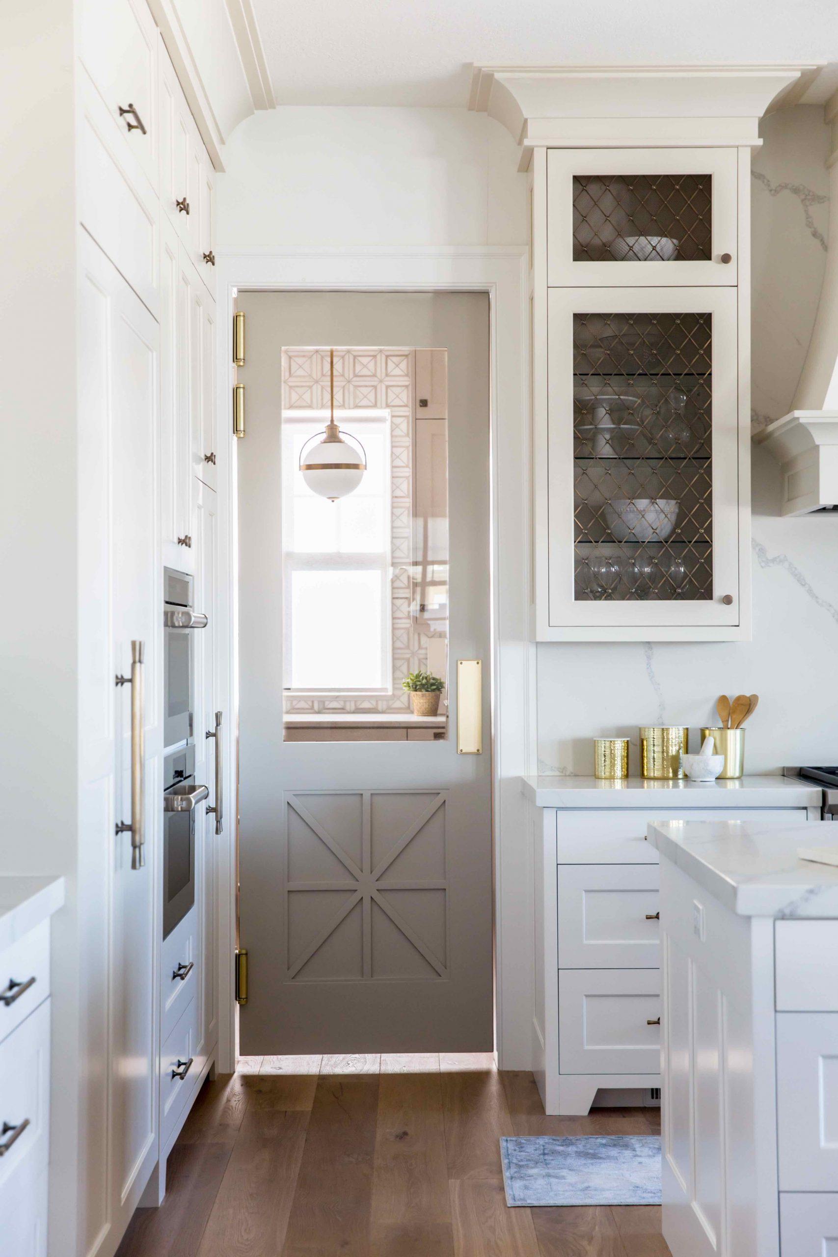 Grey pantry door idea